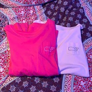 2 Long Sleeve Vineyard Vines T-shirt's